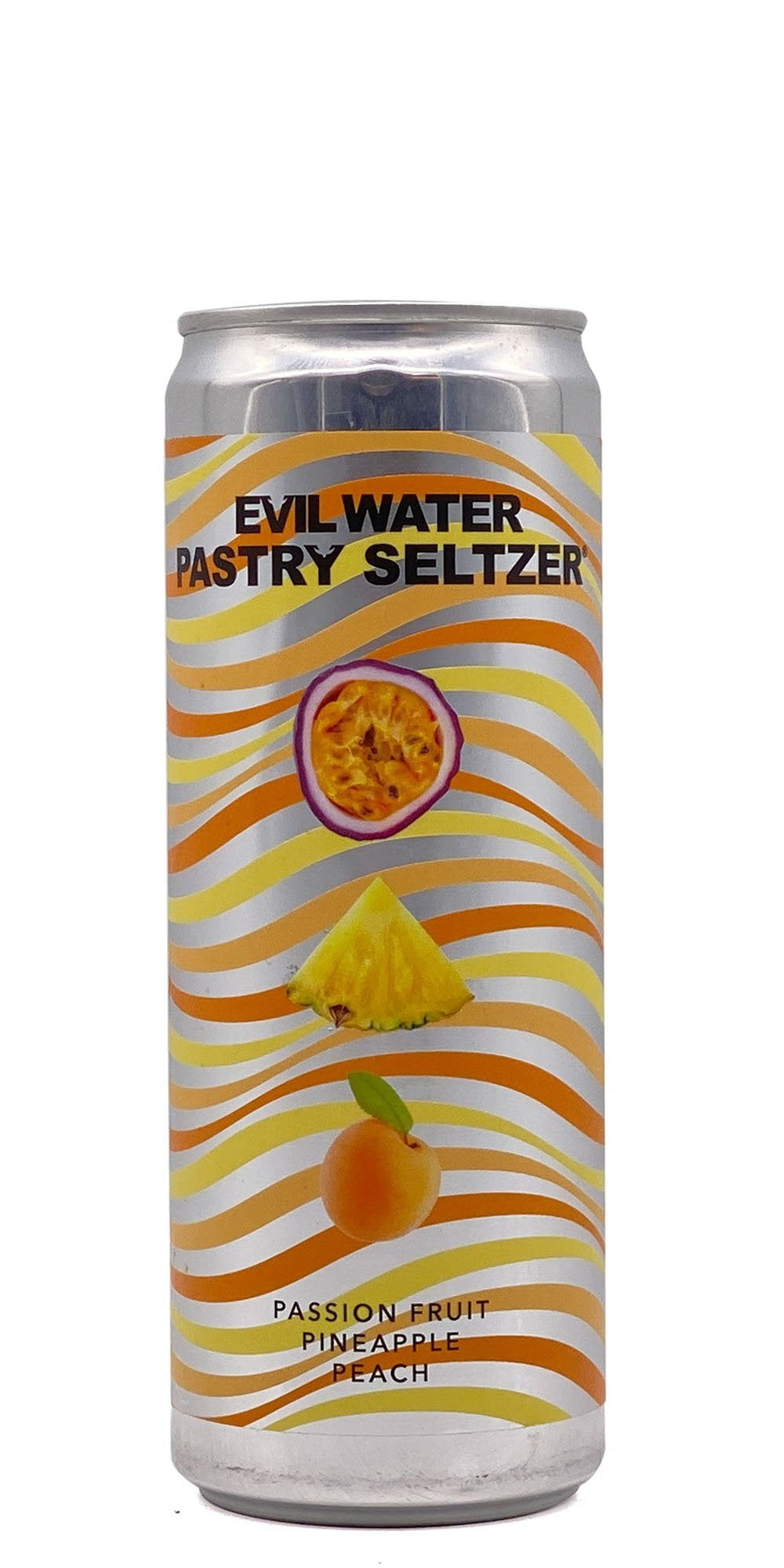 Evil Water - Pastry Seltzer: Passionfruit, Pineapple, Peach