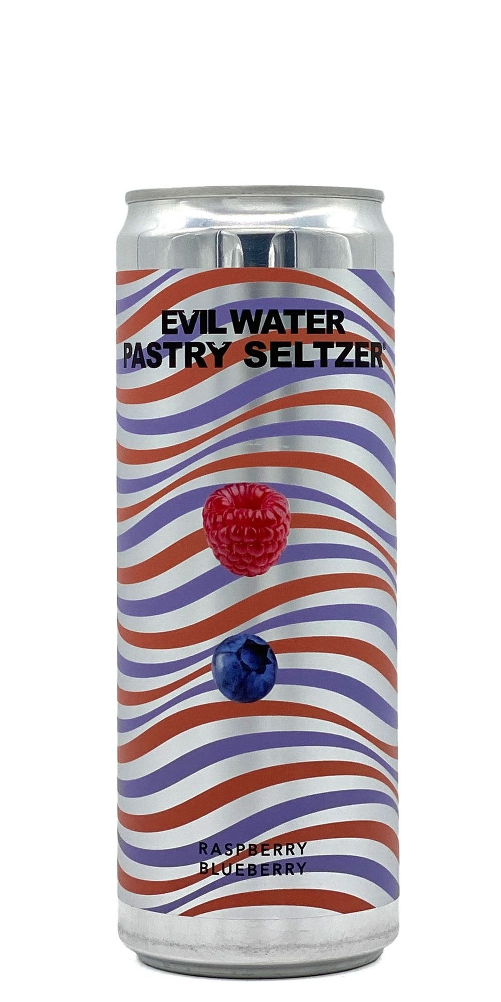 Evil Water - Pastry Seltzer: Raspberry, Blueberry