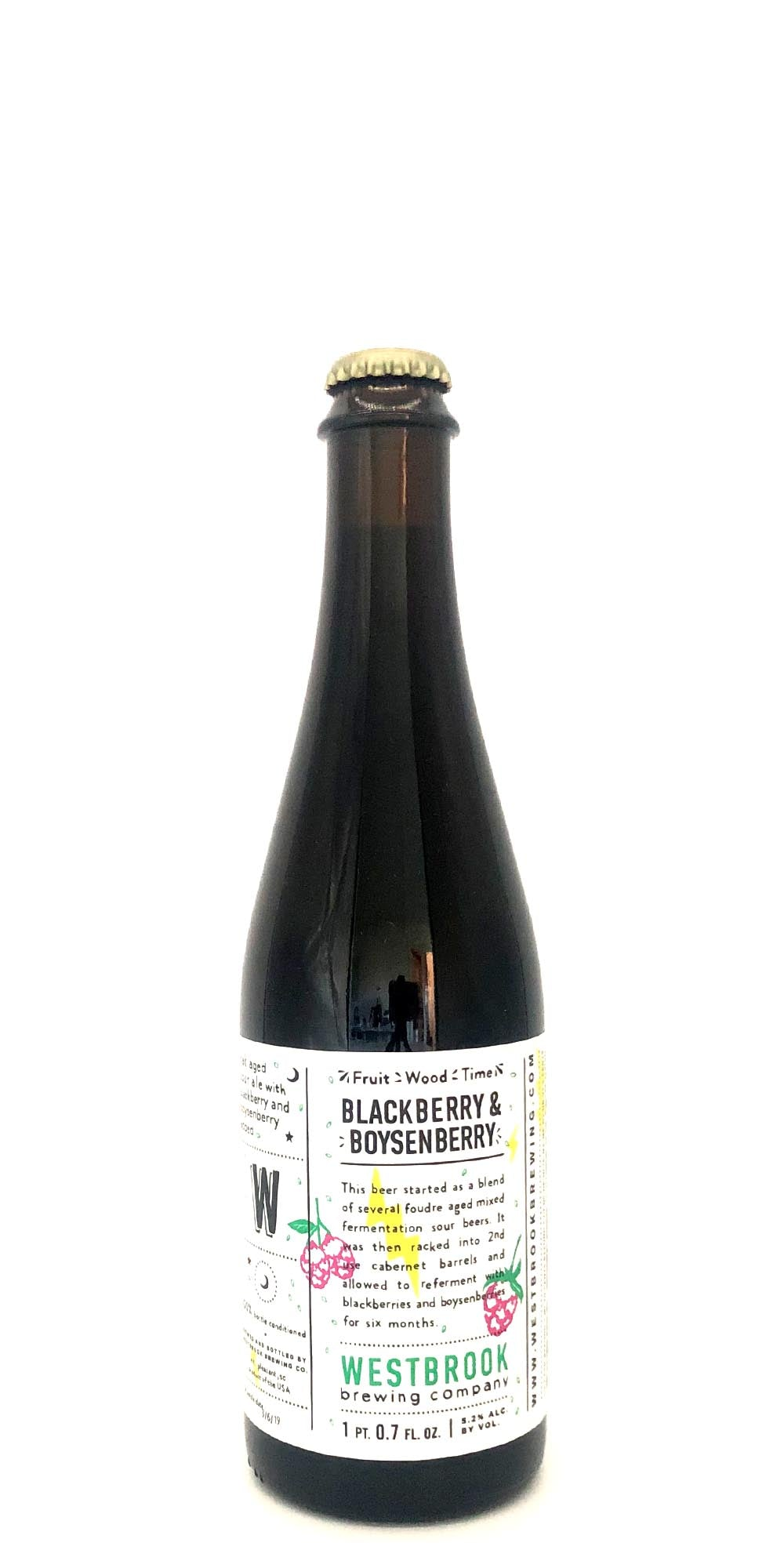 Westbrook Brewing - Fruit/Wood/Time Blackberry Boysenberry - 500ml - Drikbeer - Order Craft Beer Online