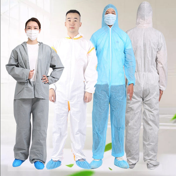 3M Safety One Time Disposable Protective Coverall Anti-splash Anti-UV Clothes Overall Suit and KN95 Mask &glasses