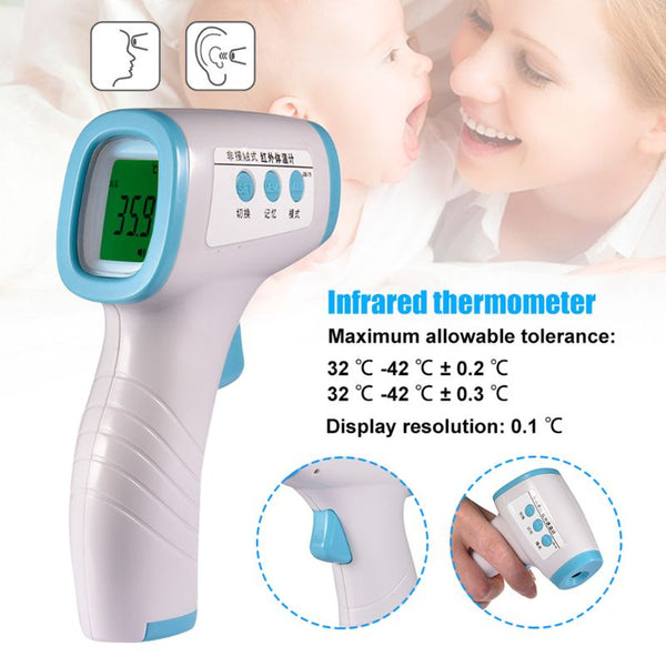 Muti-fuction Digital LCD Body Measurement Body Forehead Infrared Thermometer Temperature Thermometer Non Contact for Fever