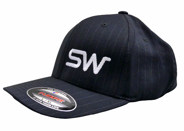 Dark Grey w/ Pinstripe and White Logo