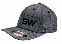 Gray Plaid w/Black Logo