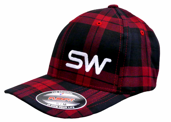 Red/Black Plaid w/White Logo