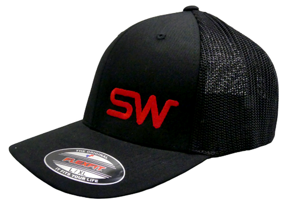 Black Mesh w/Red Logo