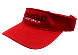 Red Visor w/Black Logo