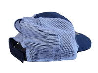 Navy/White Mesh Ponytail Hat