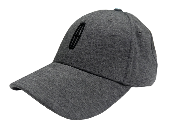 Gray w/Black Lincoln Logo Velcro