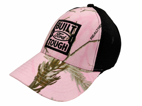 Pink Realtree Camo w/Built Ford Tough Logo Mesh Back Velcro