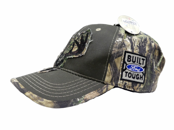 Camo w/Buck Skull & Built Ford Tough Logo Velcro