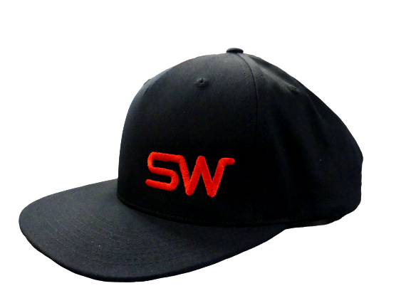 Black w/Red Logo Snapback