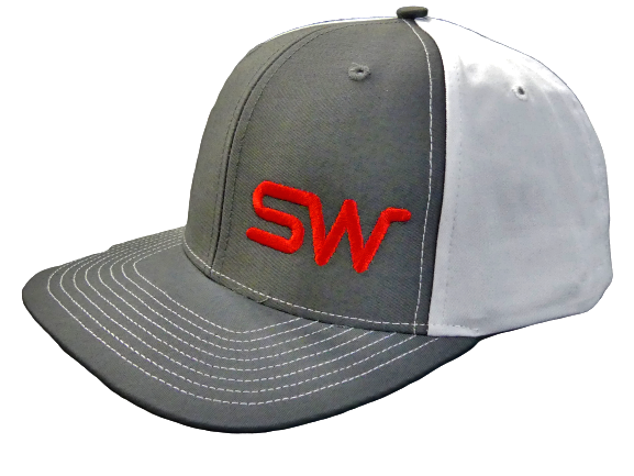 Gray/White w/Red Logo Snapback