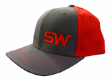 Brown/Red w/Red Logo Snapback