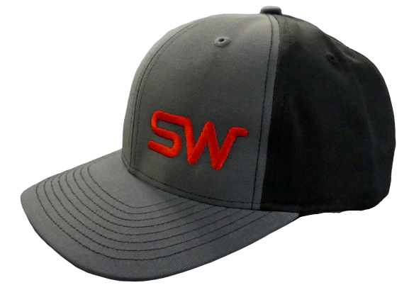 Gray/Black w/Red Logo Snapback