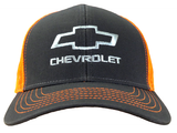 Gray/Orange Mesh Chevrolet Bowtie Snapback