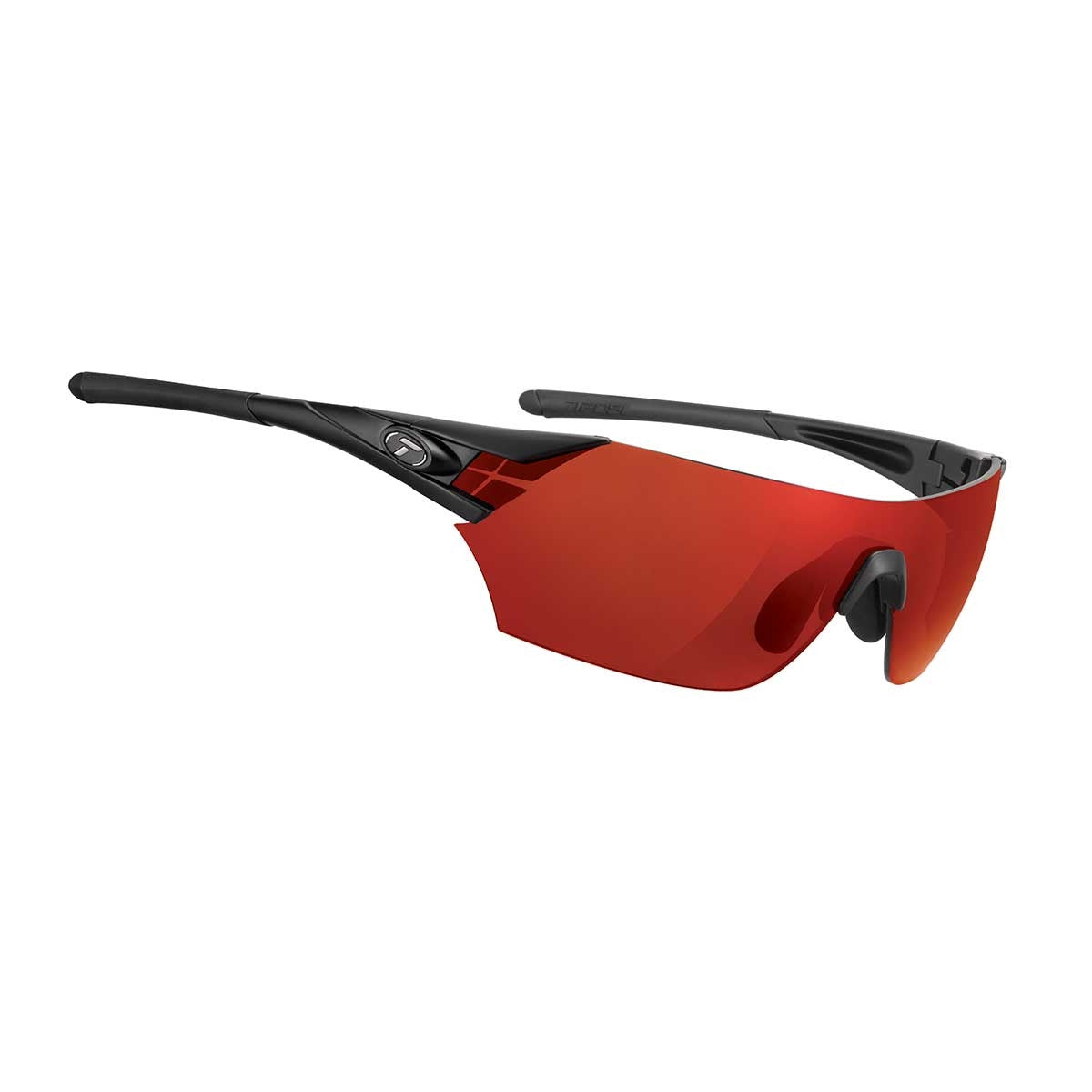 TIFOSI PODIUM MATTE BLACK CLARION RED LENS SUNGLASSES