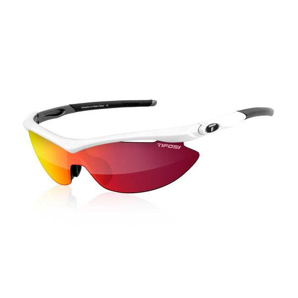 TIFOSI SLIP PEARL WHITE CLARION RED LENS SUNGLASSES