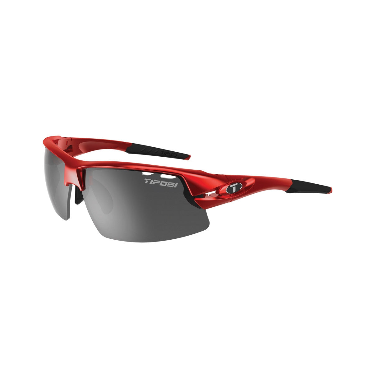 TIFOSI CRIT HALF FRAME METALLIC RED SUNGLASSES