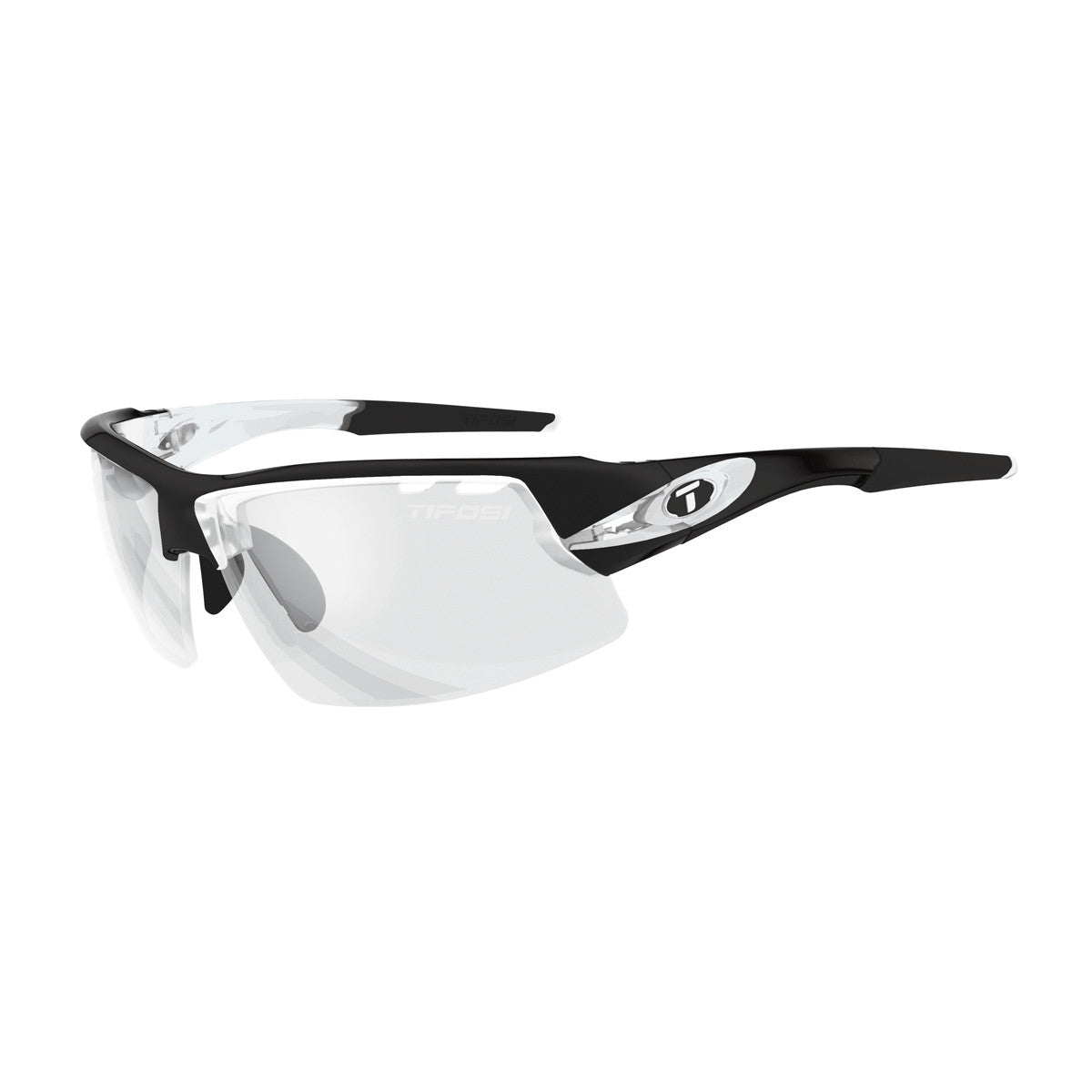 TIFOSI CRIT CRYSTAL BLACK FOTOTEC LIGHT NIGHT LENS SUNGLASSES
