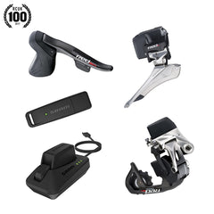 SRAM RED ETAP ELECTRONIC ROAD GROUPSET (SHIFTERS REAR DERAILLEUR AND BATTERY FRONT DERAILLEUR AND BATTERY CHARGER AND CORD USB STICK AND QUICK START GUIDE)