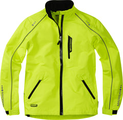 Madison Protec kid's waterproof jacket, hi-viz yellow