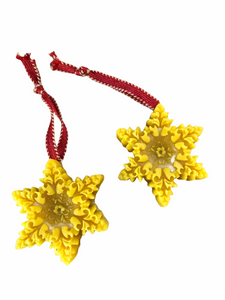 Beeswax Snowflake Ornament