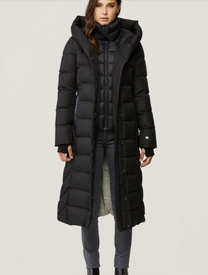 TALYSE  maxi-Length brushed down coat