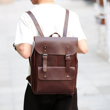 Load image into Gallery viewer, Retro Leather Backpacks - Larry Treat