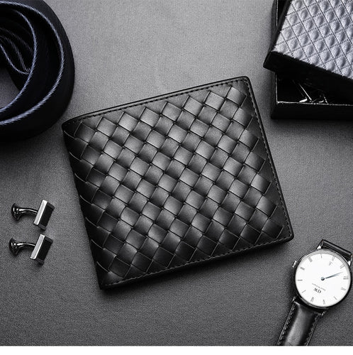 Woven Leather Wallets - Larry Treat