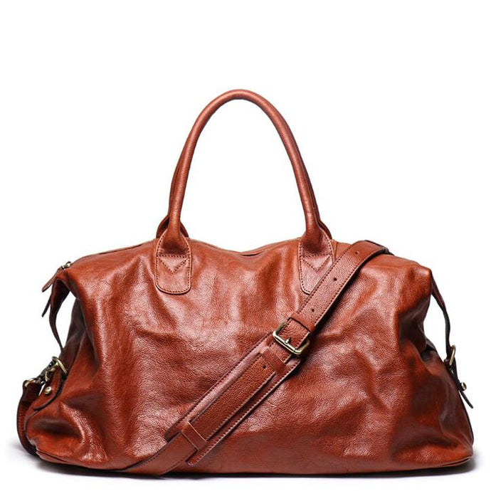 Genuine Leather Travel Handbag - Larry Treat