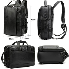 Load image into Gallery viewer, Multifunctional Leather Backpack - Larry Treat