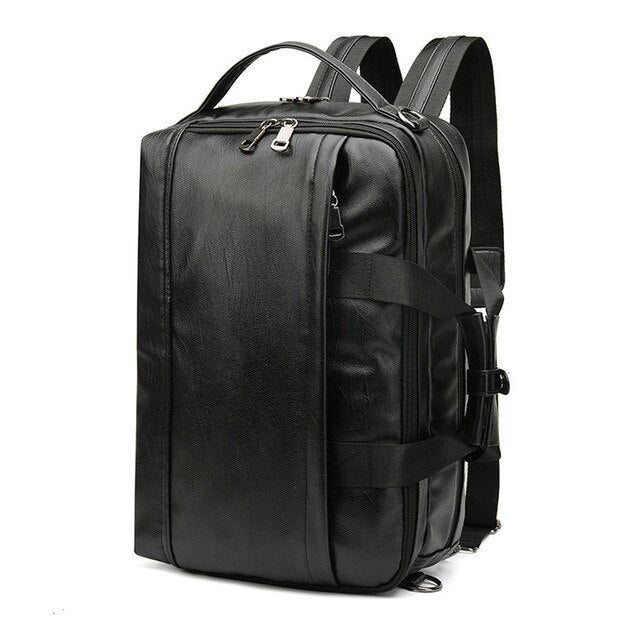 Multifunctional Leather Backpack - Larry Treat