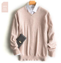 Load image into Gallery viewer, Pullover V-Neck Cashmere Cotton - Larry Treat