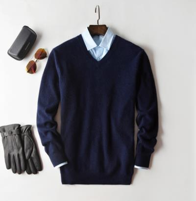 Pullover V-Neck Cashmere Cotton - Larry Treat