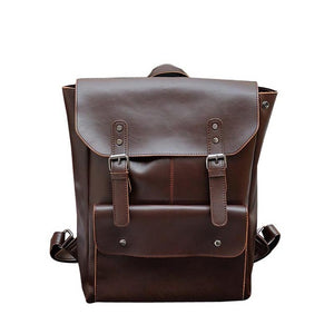 Retro Leather Backpacks - Larry Treat