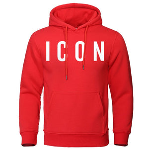 Icon Print Sweatshirt with a Hood - Larry Treat