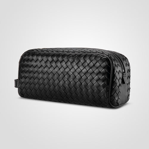 Woven Leather Toiletry Bag - Larry Treat