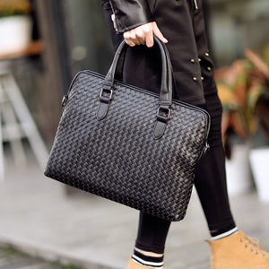 Woven Briefcase Bag - Larry Treat