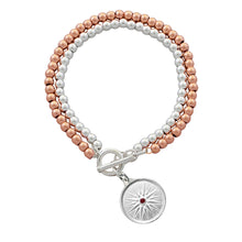 Load image into Gallery viewer, Dvoenred Two-Tone Bracelet with Kutles Charm
