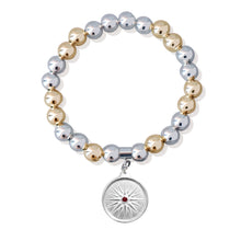 Load image into Gallery viewer, Sfera Two-Tone Bracelet with Kutles Charm