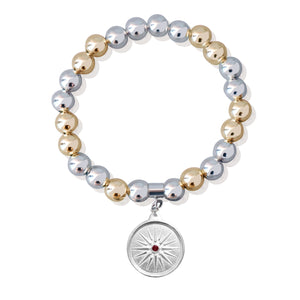 Sfera Two-Tone Bracelet with Kutles Charm