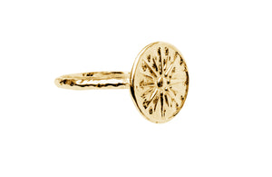 Women's Hammered Sun Ring