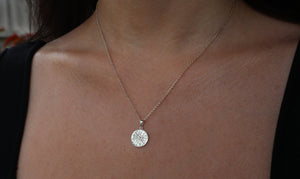Hammered Sun Necklace