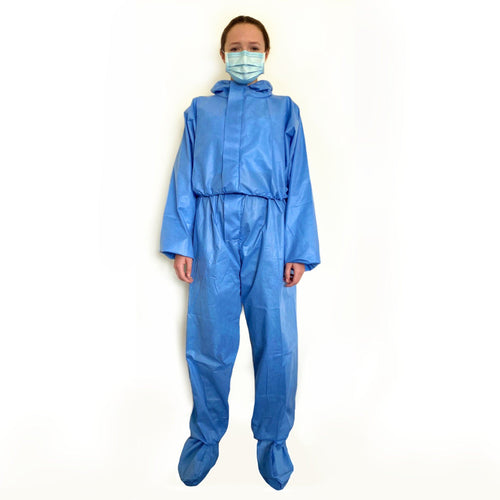 Disposable Isolation Suit Protective Clothing FrontlinePPE S