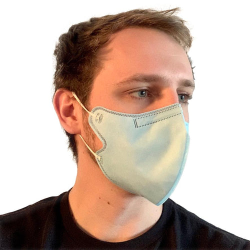 KN95 Cube Face Mask Disposable Mask FrontlinePPE BLUE