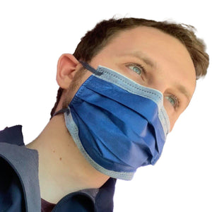 KN95 Disposable Flat Face Mask Mask FrontlinePPE BLUE