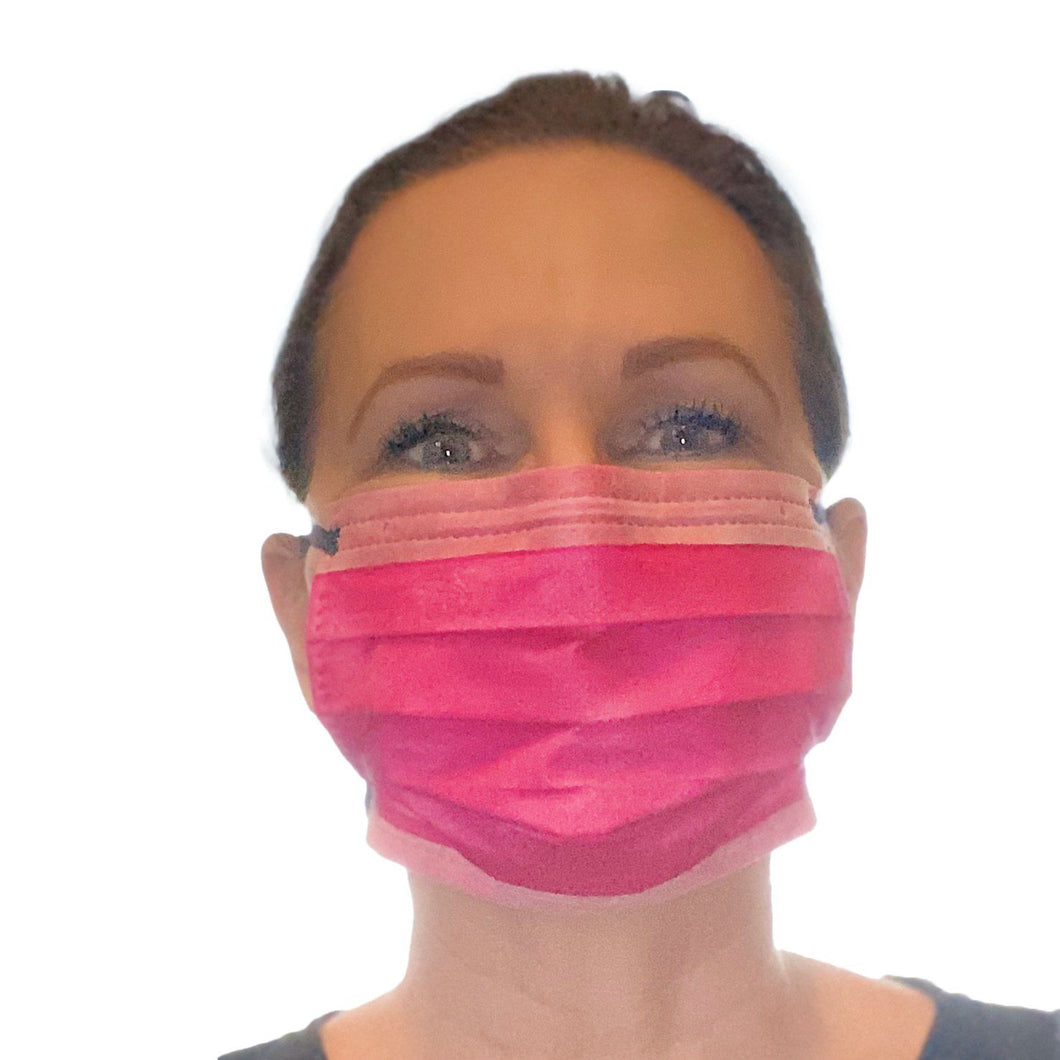 KN95 Disposable Flat Face Mask Mask FrontlinePPE PINK