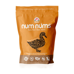 Nativo Naturals Num Nums™ Superfoods Duck Training Treats for Dogs  - Ethically Sourced, Made in USA - Grain & Gluten Free