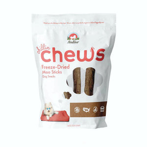 Nativo Naturals Chillin Chews Moo Sticks 3 pcs Freeze-Dried Dog Treats - Ethically Sourced, Made in USA - Grain & Gluten Free