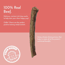 Load image into Gallery viewer, Nativo Naturals Chillin Chews Moo Sticks 3 pcs Freeze-Dried Dog Treats - Ethically Sourced, Made in USA - Grain & Gluten Free